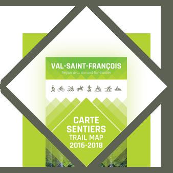 Carte sentiers Val St-François