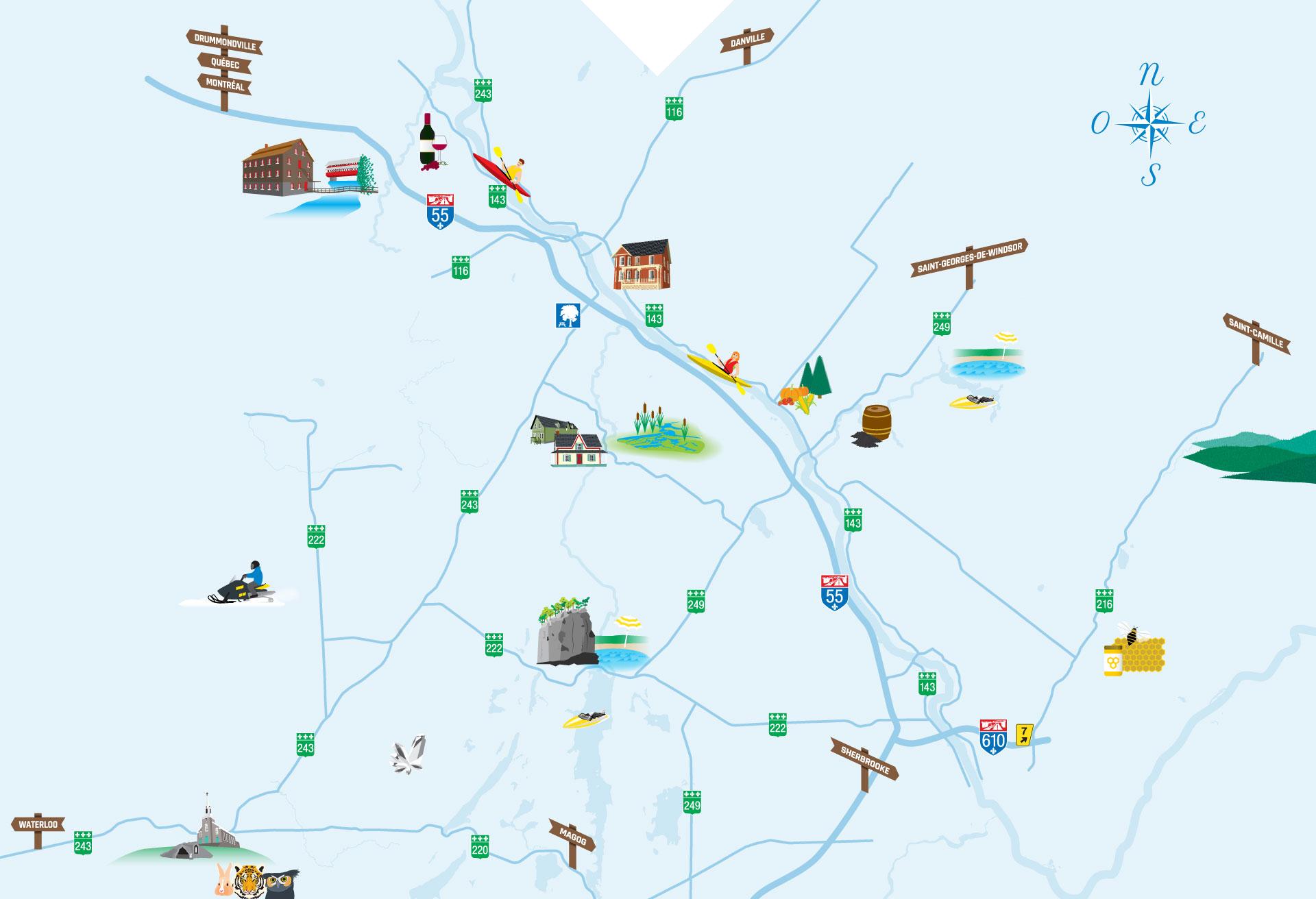 Découvrez les 18 municipalités du Val-Saint-François